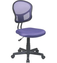 Mesh Rolling Computer Chair in Armless Office Chairs